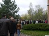 Wierni podczas procesji